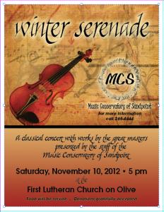 Winter Serenade a Music Conservatory of Sandpoint Staff Concert