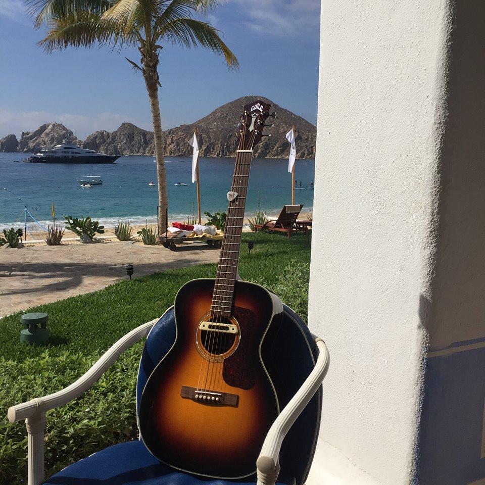 Guitarist Tommy Fedak in Cabo San Lucas