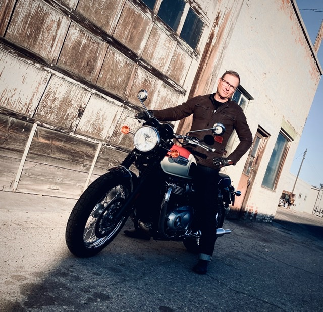 Tommy Fedak rides Triumph